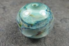 Into the Fire Lampwork Art Beads ~Menthe~ Artist handmade glass focal bead SRA