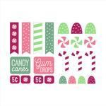 christmas candy stickers