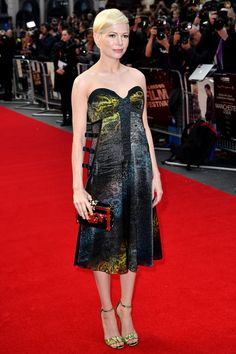 Michelle Williams stole the show in snakeskin Louis Vuitton for the premiere of Manchester By The Sea during the BFI Film Festival in London.