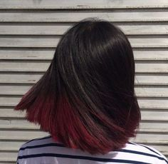 18 short red hair color ideas – # ideas # short # hairstyles - Hairstyles For All Gorgeous Hair Color, Ombre Hair Color, Hair Color Balayage, Balayage Bob, Red Ombre, Short Balayage, Balayage Brunette, Red Hair Streaks, Black Balayage