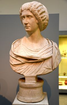 Marble Bust of a Roman Woman (by Osama Shukir Muhammed Amin) -- The woman may be a member of the imperial family. She is known from other portraits, but can not be individually identified. Ancient Rome, Ancient Art, Roman Hairstyles, Marble Bust, Roman Era, Roman Sculpture, Historical Women, Roman History, Woman Illustration