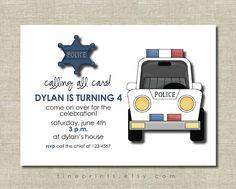 police birthday party invitation