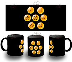 TAZA NEGRA DRAGON BALL BOLAS bola de anime BLACK MUG tazza tasse coupe mug serie | eBay