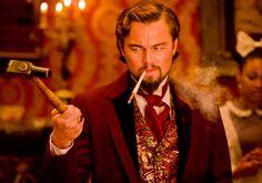"Quentin Tarantino's ""Django Unchained"" showing Leonardo DiCaprio in costume"