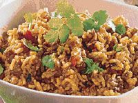 This spicy Indian mince and rice meal is delicious and simple to prepare.