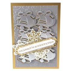 Pop Up Christmas Cards, Christmas Card Images, Christmas Scrapbook, Christmas Bells, Xmas Cards, Holiday Cards, Christmas 2015, Handmade Christmas, Anna Griffin Cards