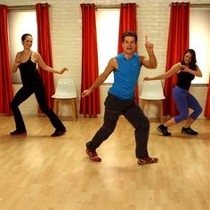 This is a cute little 10-minute dance workout with Louis Van Amstel from Dancing with the Stars. It wasn't physically difficult but it was lots of fun - good for a laugh and as a warmup before a tougher workout!