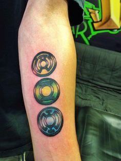 Green lantern tattoo - photo#33