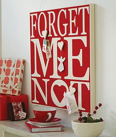 Forget Me Not Noticeboard