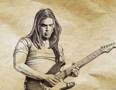 Gilmour, dessin… (crayon) ©Antoine Digout