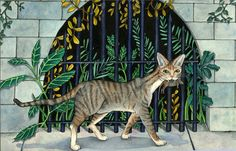 """""""Cat and Mouse""""  watercolor on hot press w/c paper  ©Carolyn Watson Dubisch"""