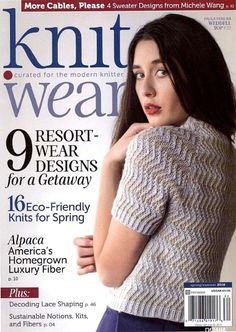 "Photo from album ""Knit Wear - Spring Summer on Yandex. Knitting Books, Crochet Books, Vintage Knitting, Knitting Projects, Hand Knitting, Crochet Magazine, Knitting Magazine, Knitting Machine Patterns, Knit Patterns"