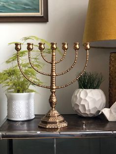 Excited to share this item from my shop: Heavy bronze menorah vintage pedestal stunning 7 arm bronze malm Menorah Candles, Malm, Pedestal, Candle Holders, Bronze, Brass, Etsy Shop, Decorating, Beautiful