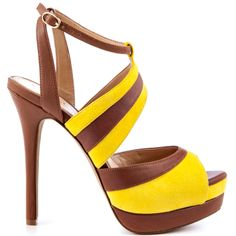 Heels I Love #heels #summer #high_heels #color #love #shoes Eman - Giallo Suede  					Jessica Simpson