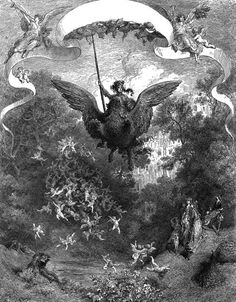 "Gustave Doré. Ludovico Ariosto´s  ""Orlando Furioso"". c. 1883. Magic Transistor on Tumblr"