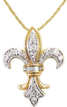 "Fleur-de-Lis Pendant Necklace""...Less than a ""century""  awesome.."