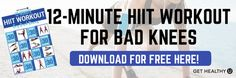 So you want to reap the benefits of High Intensity Interval Training, but you have knee pain? No sweat! Try this quick, low-impact HIIT workout for bad knees. Flat Tummy Workout, Belly Fat Workout, Reduce Belly Fat, Lose Belly Fat, Knee Exercises, Bad Knees, Neck And Back Pain, Weight Training Workouts, High Intensity Interval Training