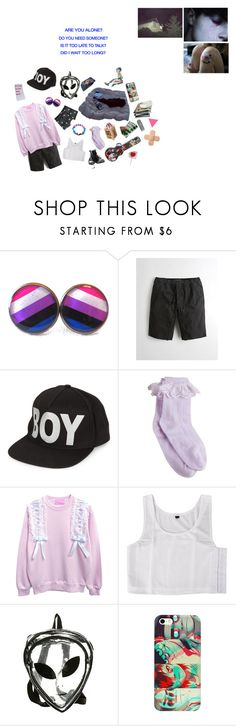 """""""Too late to talk"""" by captin-j-rose ❤ liked on Polyvore featuring GET LOST, Hollister Co., BOY London, Bertie and Converse"""