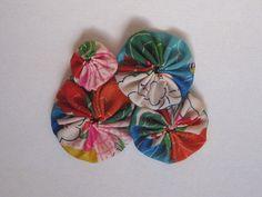 Yo-yo Snap Hair Clip  Kimono Fabric Japanese Hair by makikomo
