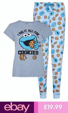Cute Pajama Sets, Cute Pajamas, Girls Pajamas, Pajamas Women, Ladies Pyjamas, Pajama Outfits, Disney Outfits, Cute Pjs For Women, Cookie Monster Pajamas
