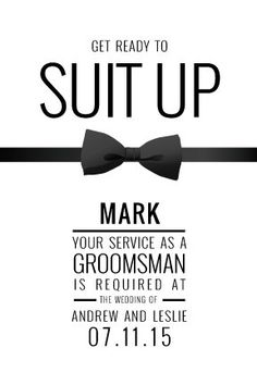 Custom Groomsman Proposal Card by ZippyDoodles on Etsy