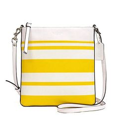 4183f0e9a Women's Cross-Body Handbags - Coach Bleecker NorthSouth Swingpack In  Striped Coated Canvas >