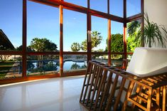Relax inside of the hotel and enjoy an amazing view on the pool and garden outside, which are here for you to use anytime!