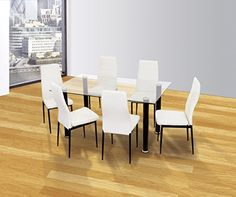 Dining Rooms, Dining Chairs, Conference Room, Table, Furniture, Home Decor, White Cabinets, Upholstered Chairs, White Colors