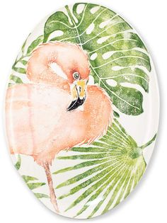 Made by Vietri. Vietri Into the Jungle Flamingo Large Oval Platter. 663698421870 Part: The Into the Jungle Flamingo Large Oval Platter from VIETRI measures This item is a new introduction for Mother Daughter Trip, Hawaiian Party Decorations, Tropical Leaves, Pink Flamingos, Animal Design, Earthenware, Hand Painted, Painted Porcelain, Ceramics