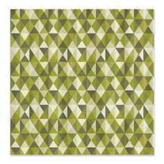 Moss Geometric Triangle Pattern Shower Curtain