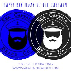 Today's my Birthday!!!!! Here's your deal:  Buy any beard grooming product (kits & packs included) & get a FREE Seas the Day Beard Balm from the Captain. Today only, cause its my Birthday! *T-shirts not included in birthday deal* www.seacaptainbeardco.com #buy1get1 #birthdayspecial #beardlife #sea #captain #beards #mustachewax #beardsoap #mustache #bogo #fathersday #dad #mensgrooming #beardcare