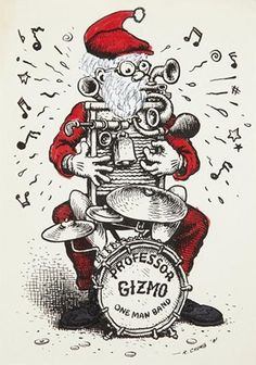Professor Gizmo One Man Band Robert Crumb, Fritz The Cat, Underground Comics, Art Bin, Alternative Comics, Fairly Odd Parents, Jazz Artists, Man Band, High Times