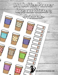 Free Coffee Cup Planner Stickers