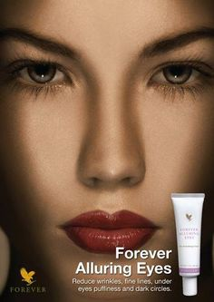 Forever Alluring Eyes®. Reduce the appearance of wrinkles, fine lines, under-eye puffiness and dark circles, while improving the skin's suppleness and elasticity. Order online now at Forever Living Aloe Vera Products http://thecovenant.myforever.biz/store/