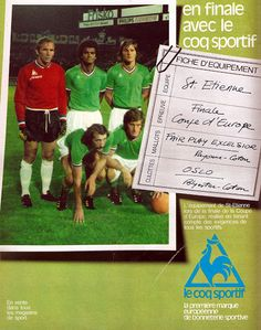PUB. Le Coq Sportif. St-Etienne. ~ THE VINTAGE FOOTBALL CLUB