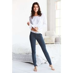 Tommy Hilfiger Iconic Cotton Pyjama Set (€42) ❤ liked on Polyvore featuring intimates, sleepwear, pajamas, cotton pajamas, tommy hilfiger sleepwear, thermal pajama set, cotton pyjamas and tommy hilfiger
