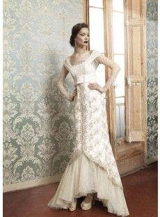 High Low Trumpet Mermaid Wedding Dress