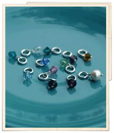 Birthstone Charms - $5  January- garnet February- amethyst March- aquamarine April- diamond May- emerald June-pearl July- ruby August- peridot September- sapphire October- pink tourmaline November- topaz December- blue zircon