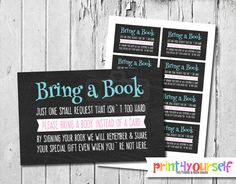 Prince or Princess Bring A Book Cards for Baby by Print4Yourself