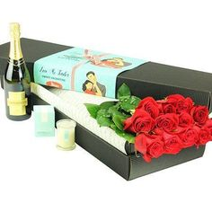 "Buy ""12 Long Stem Roses & Sparkling Wine"" for $168.95. Set The Mood For Romance This Valentines Day With 12 Red Roses beautifully Presented In A Stylish Rose Box And Accompanied By A 750ml Bottle Of Chandon Sparkling Wine. Our Exquisite 60cm Long columbian Red Roses And Bubbles Are Also Delivered With A Free Ecoya Sweet-pea Scented Candle Worth $19.95!"