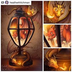 regram @changelingartist #Painting by @heatherhitchman #changelingartistcollective  A #Smaugust throwback! My original #Dragon Lantern #Digitalpainting from 2015. Still one of my favorite pieces and my best seller at conventions. I was inspired initially by a cool lantern I saw online and made the initial sketch based off of that. Then I modeled the Lantern in MAYA and did some basic lighting to be sure the perspective and environment was right. From there on I inked and painted! Prints of…