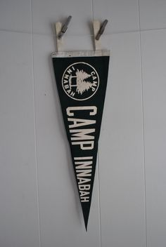 vintage pennant  camp innabah by carewood on Etsy, $20.00