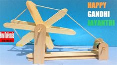 IIn this video we would like to tribute to the nation GANDHI charkha craft ideas in view of GANDHI JAYANTI SPECIAL which you can do it yourself( Diy Project ) … source Popsicle Stick Crafts, Popsicle Sticks, Craft Stick Crafts, Ice Cream Stick Craft, Diy Ice Cream, Diy And Crafts Sewing, Diy Crafts, Paper Crafts, Creative Activities
