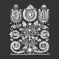 Folk Embroidery Patterns Illustration of Floral folk ornament, vector illustration vector art, clipart and stock vectors. Image - - Millions of Creative Stock Photos, Vectors, Videos and Music Files For Your Inspiration and Projects. Hungarian Embroidery, Folk Embroidery, Paper Embroidery, Learn Embroidery, Hungarian Tattoo, Indian Embroidery, Chain Stitch Embroidery, Embroidery Stitches, Bordado Popular
