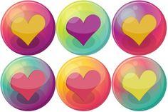 Corazón de color rosa 3 Icono |  Corazón de la burbuja Conjunto de iconos |  DeathOfSeasons