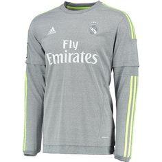 Real Madrid Jersey Away Grey Long Sleeve Soccer Shirt Real Madrid Jersey 2015, Real Madrid Soccer, Football Kits, Football Jerseys, Orlando, Jersey Atletico Madrid, Soccer Shirts, Club, Shopping