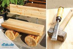 Massive Gartenbank aus Holz selber bauen – DIY-Anleitung