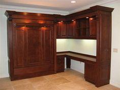 Wood-Platform-Murphy-Bed-Desk-Design