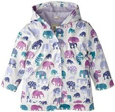 Keep the rain out in style with our fun purple elephant print kids Raincoat! Our kids Hatley coats are as functional as they are stylish – the fun lightweight s