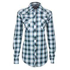 Cowgirl Hardware Women's Plaid Embroidered Long Sleeve Shirt